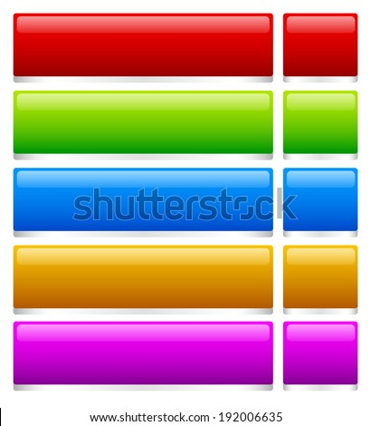 3d glossy banners - stock vector