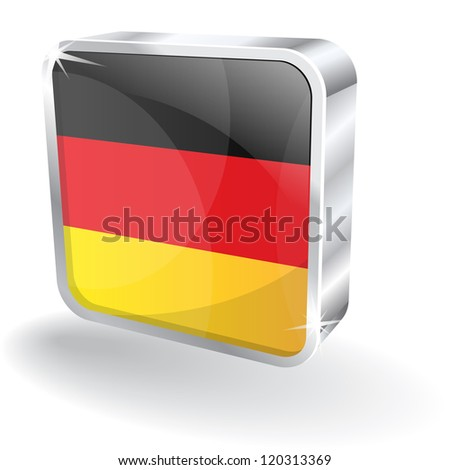 3d Glossy Germany Flag Vector Icon - stock vector