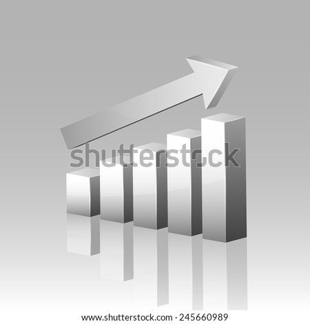 3D graph. Vector. - stock vector