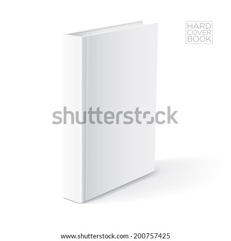 3D Hard cover book design template. Vector detailed illustration. - stock vector