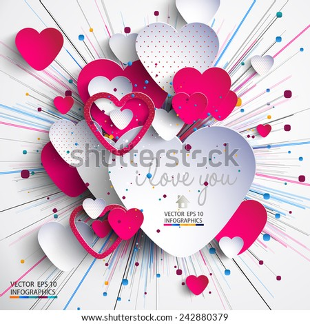 3d heart-Valentine's Day - stock vector