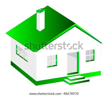 3D House - stock vector