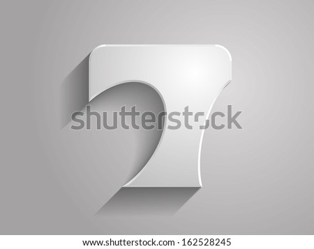 3d icon of number 7