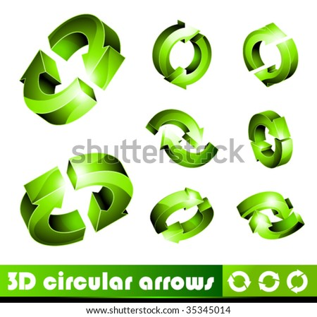 3D Icons: Circular Arrows