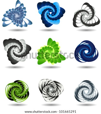 3d icons, ideal for science, technology or business concepts - stock vector
