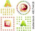 3d icons with letters. Vector great collection. - stock photo