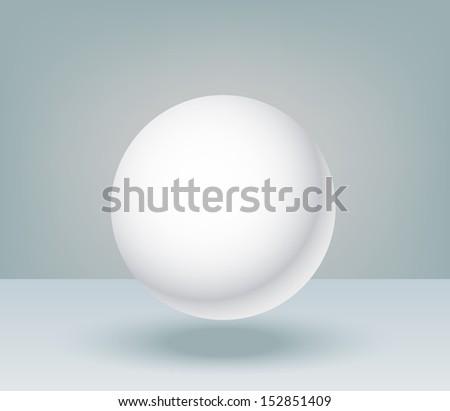 3d illustration basic geometric shapes, blank sphere  - stock vector