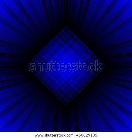 3d illustration. Radiant psychedelic background. The three-dimensional space of the room. The prospect of converging to the center of the multi-colored stripes. - stock vector