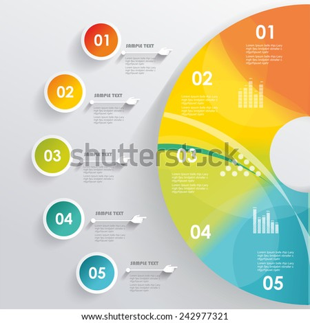 3D Infographic. Can be used for number options, workflow layout, diagram, web design.  - stock vector
