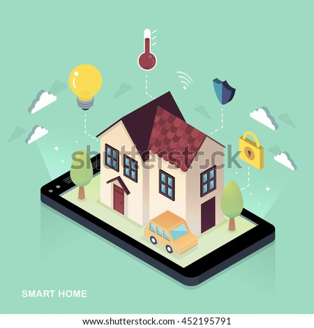 Isometric house stock photos royalty free images for 3d flat design online