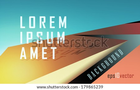 3d landscape Abstract vector background in crystalline forms. Eps10. - stock vector