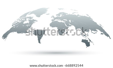 3d map world isolated on white stock vector 668892544 shutterstock 3d map of the world isolated on white background in grey color vector illustration gumiabroncs Gallery