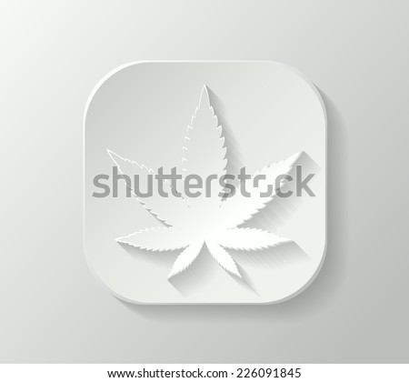 3d marijuana leaf - stock vector
