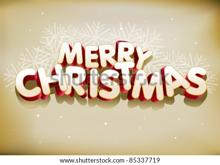 "3d ""Merry Christmas"". Elements are layered separately. Easy editable. - stock vector"