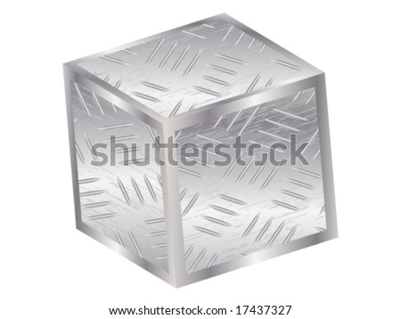 3d metal box - stock vector