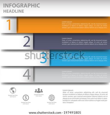 3d Minimal infographics. Vector - stock vector