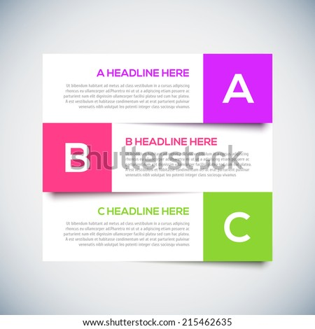 3D Modern infographics Design Layout with shadow. - stock vector