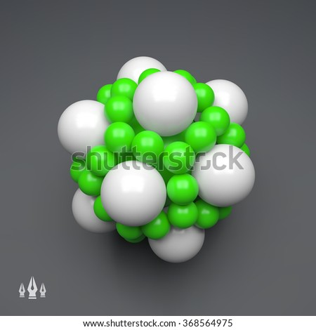 3D Molecule Structure. Futuristic Technology Style. 3D Vector illustration for Science, Technology, Marketing, Presentation. Connection Structure. Network Design. 3D Vector illustration. - stock vector