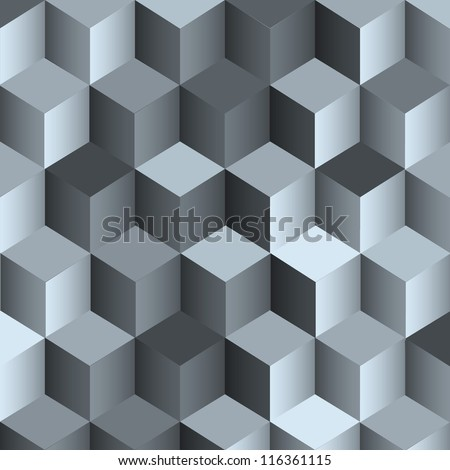 3d monochrome background with cubes.Vector eps10 - stock vector