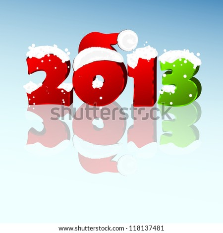 3d new year 2013 design element. Vector illustration - stock vector