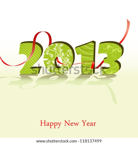 3d new year 2013 design element. Vector illustration - stock vector