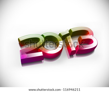 3d new year 2013 text design. - stock vector