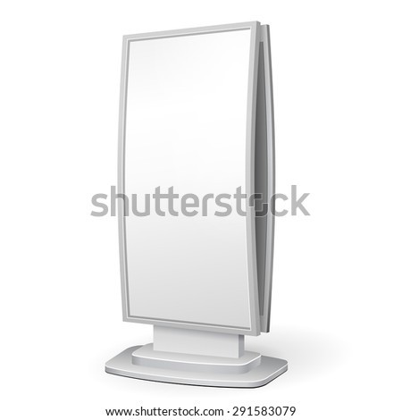 3D Outdoor Advertising POS POI Citylight Lightbox Advertising. Illustration Isolated On White Background. Mock Up Template Ready For Your Design. Vector EPS10 - stock vector