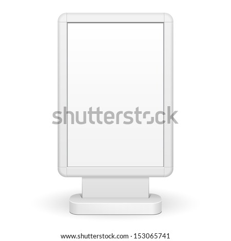 3D Outdoor Advertising Rounded Citylight Lightbox Advertising. Illustration Isolated On White Background. Vector EPS10 - stock vector