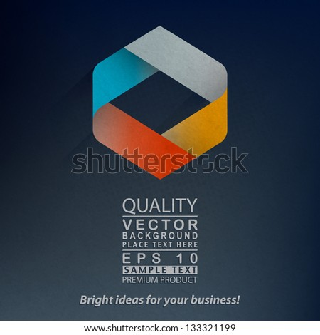 3D Paper Graphics with Abstract Shape - stock vector