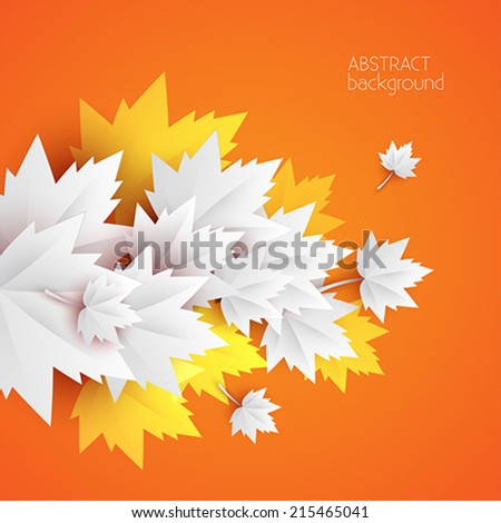 3d paper leaves abstract backgrounds - vector - stock vector