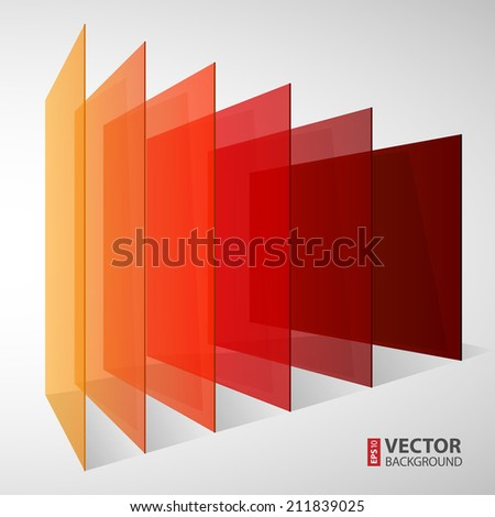 3d perspective colorful abstract rectangles on white background. RGB EPS 10 vector illustration - stock vector