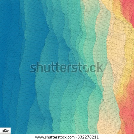 3d Perspective Grid Background Texture. Mosaic. Lattice Effect.