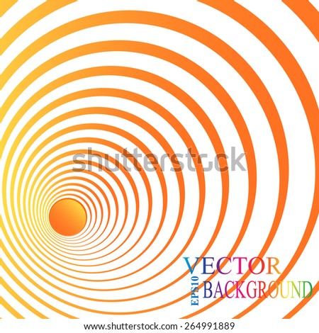 3d perspective red circle background. Vector illustration. - stock vector