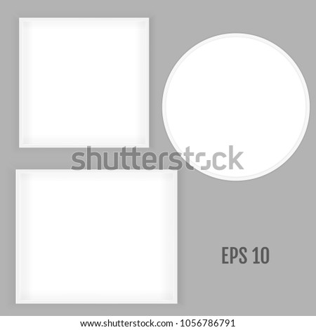 3 d picture square round frame design stock vector 1056786791
