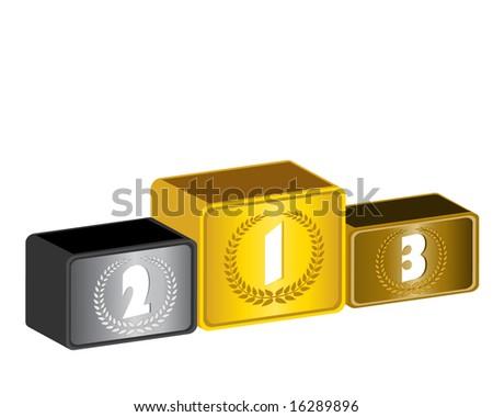 3d podium - stock vector