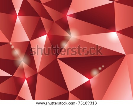 3d polygon triangle abstract background - illustration - stock vector