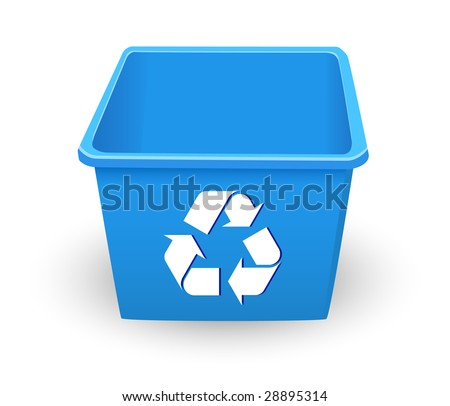 3D Recycling Trash Tub (Vector)