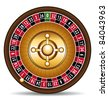 3d Roulette illustration. Casino vector symbol. - stock photo