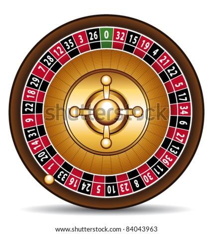 3d Roulette illustration. Casino vector symbol. - stock vector