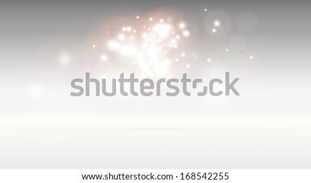 3D scene high definition background illustration - Glittering stars on reflective vector background - stock vector