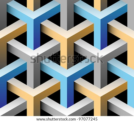 3d seamless pattern - stock vector