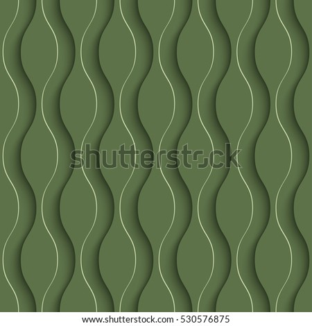 3D Seamless Pattern in Kale Color. Neutral Tileable Vector Background for Material Design. Kale is color of 2017 year.