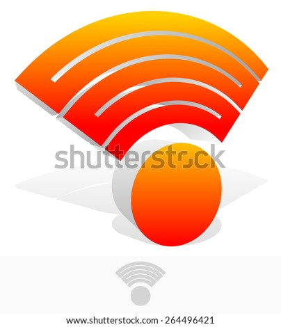 3D Signal Shape with Connected Waves - stock vector