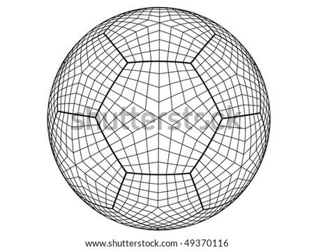 3D Soccer - stock vector