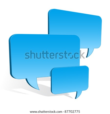 3d speech bubbles collection hovering - stock vector