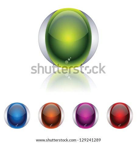 3D sphere icons - stock vector