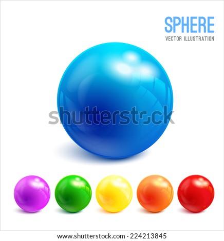 3d sphere vector illustration - stock vector