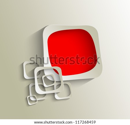 3D square  frame. Vector illustration - stock vector