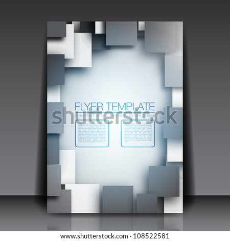 3D Squares - Business Flyer Template Vector Design - stock vector