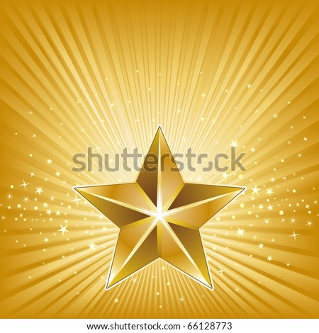 3d star and abstract background - stock vector